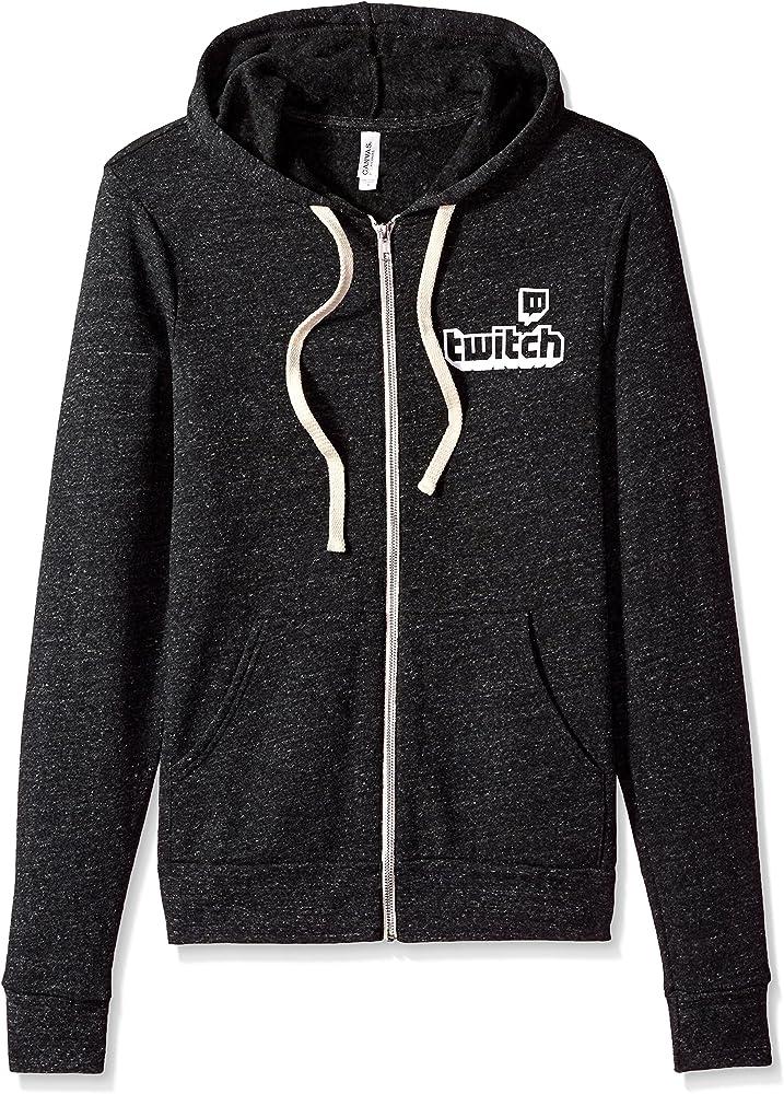 bfef72633 Amazon.com: Twitch Logo Unisex Full Zip Hoodie (4XLarge, Grey): Clothing