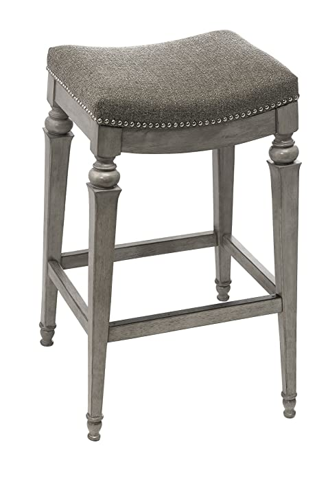 Hillsdale 5606-830 Vetrina Backless Non-Swivel Bar Stool with Fabric Weathered Grey  sc 1 st  Amazon.com & Amazon.com: Hillsdale 5606-830 Vetrina Backless Non-Swivel Bar ... islam-shia.org