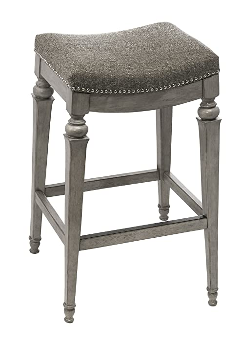 Brilliant Hillsdale Furniture Vetrina Backless Non Swivel Bar Stool Weathered Grey Ncnpc Chair Design For Home Ncnpcorg