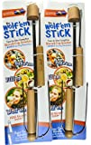 The Wolf'em Stick: 2-In-1 Premium Hot Dog and Marshmallow Roasting Stick with Wooden Rotary Handle and Unique Biscuit Cup Roasting Attachment (32 Inches, Pack of 2) by Campfire Industries