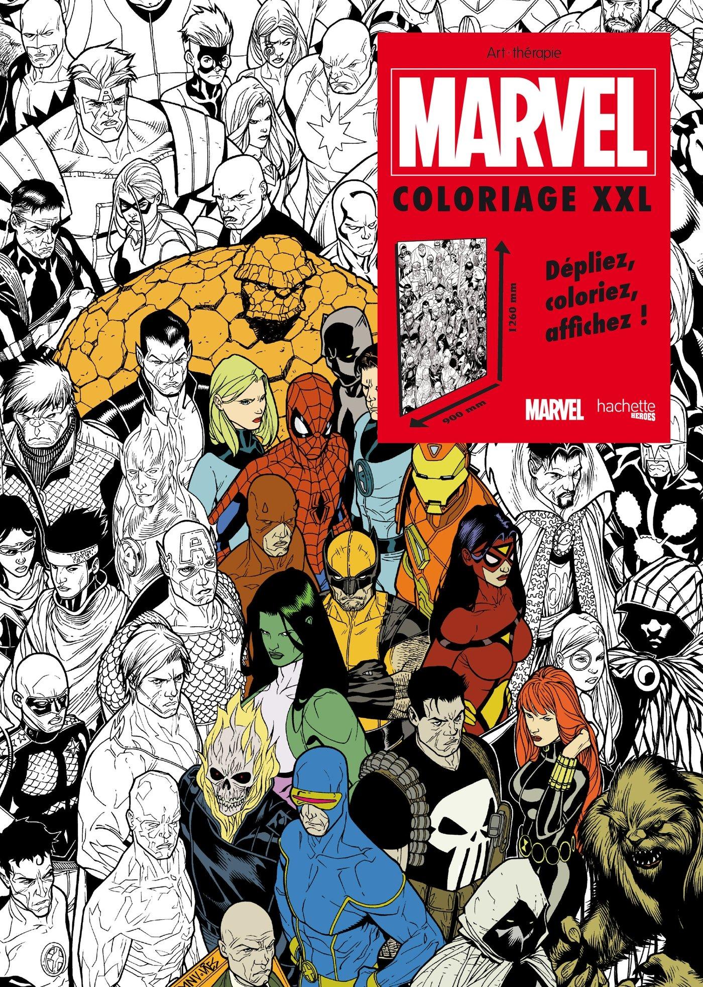 marvel coloriage xxl amazoncouk nicolas beaujouan 9782011461131 books - Marvel Coloriage