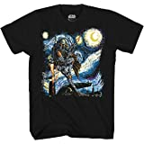 Star Wars Boba Fett Starry Night Men's Adult Graphic Tee T-Shirt