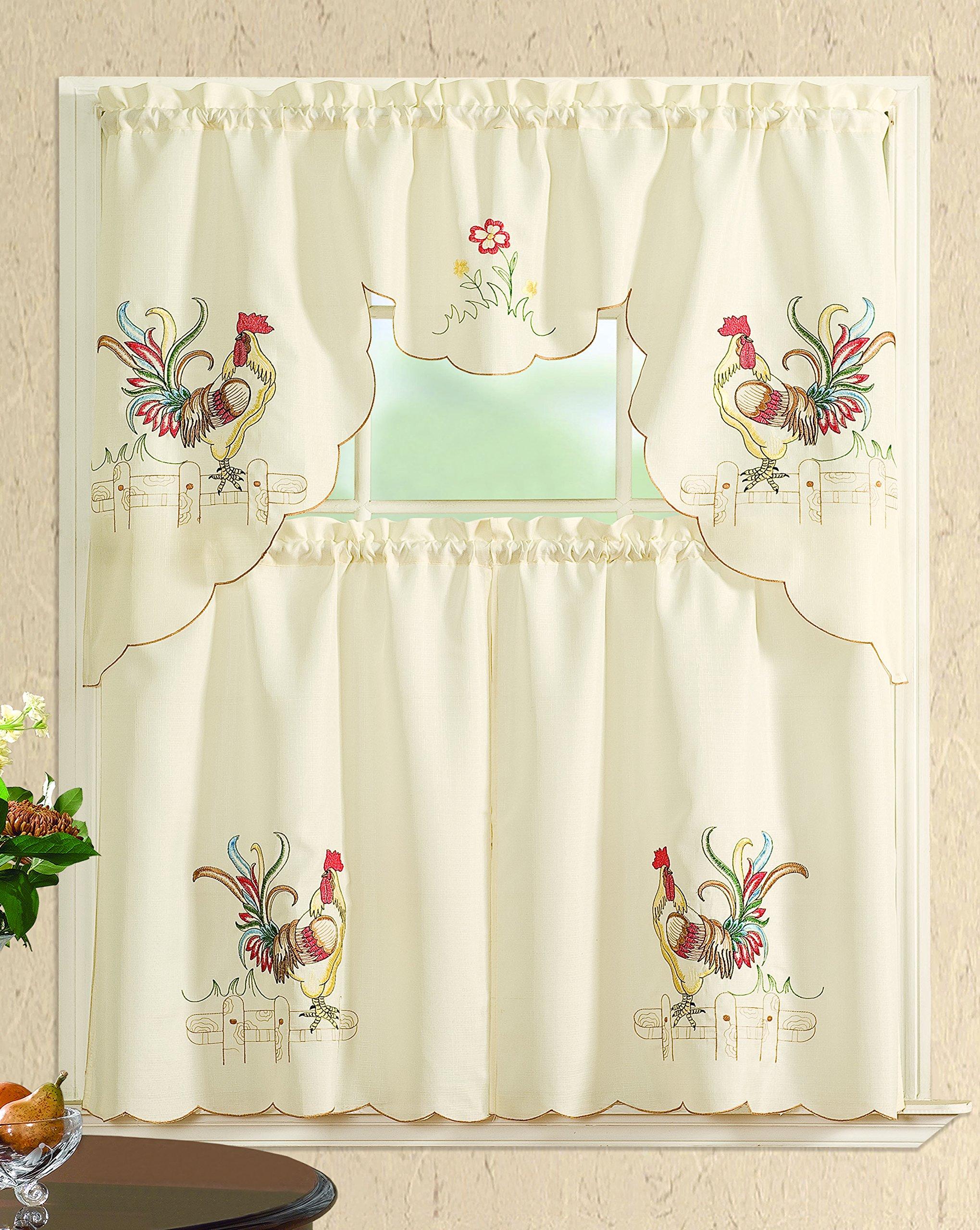 Rooster Kitchen Curtains Best Deals On New Kitchen Curtains Superofferscom