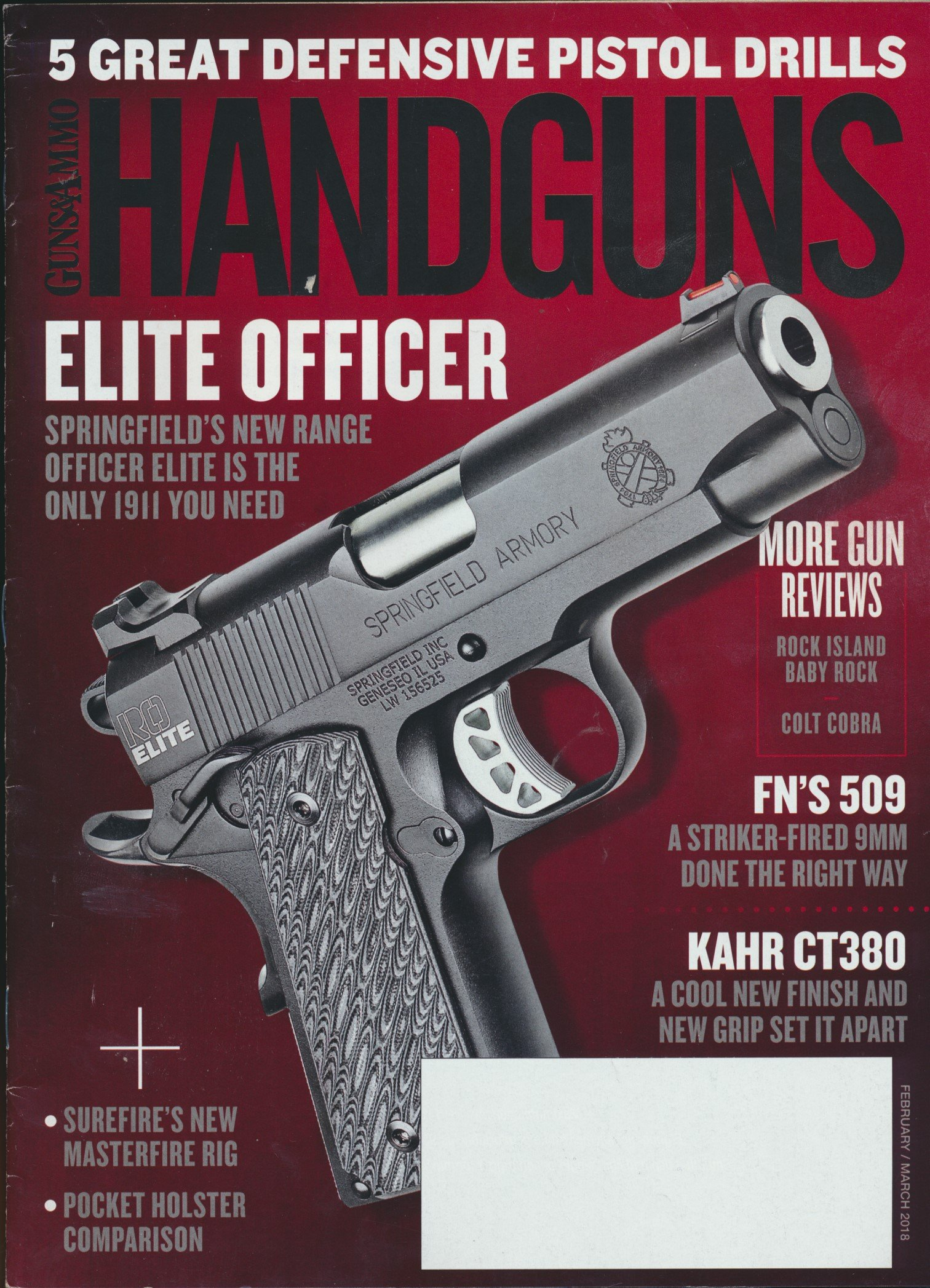 Guns & Ammo Handguns : Springfield Armory Officer Elite 1911
