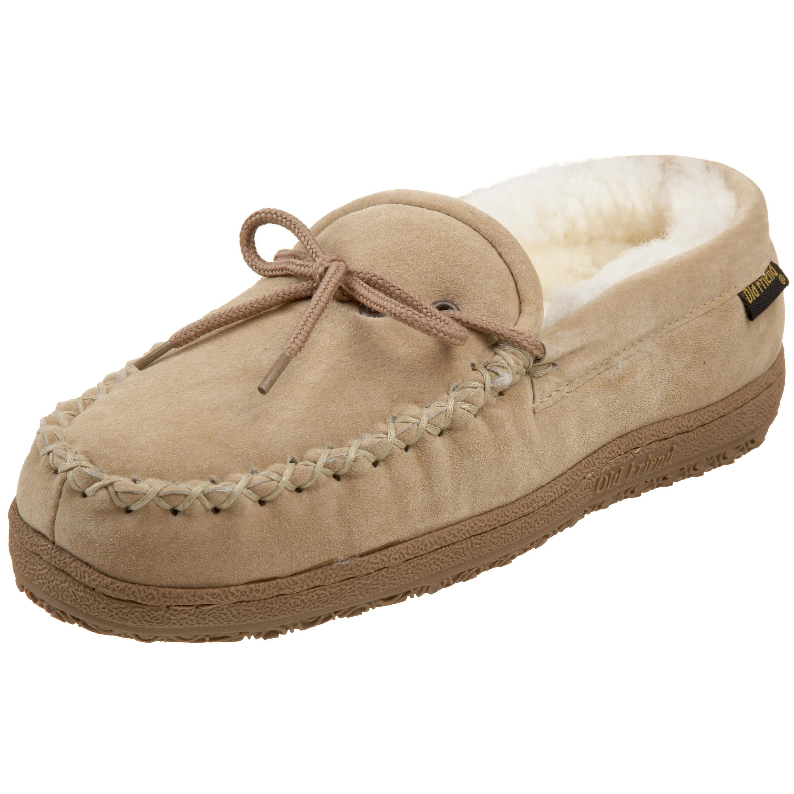 Old Friend Women's 441165 Loafer Moccasin,Chestnut/White,8 M US