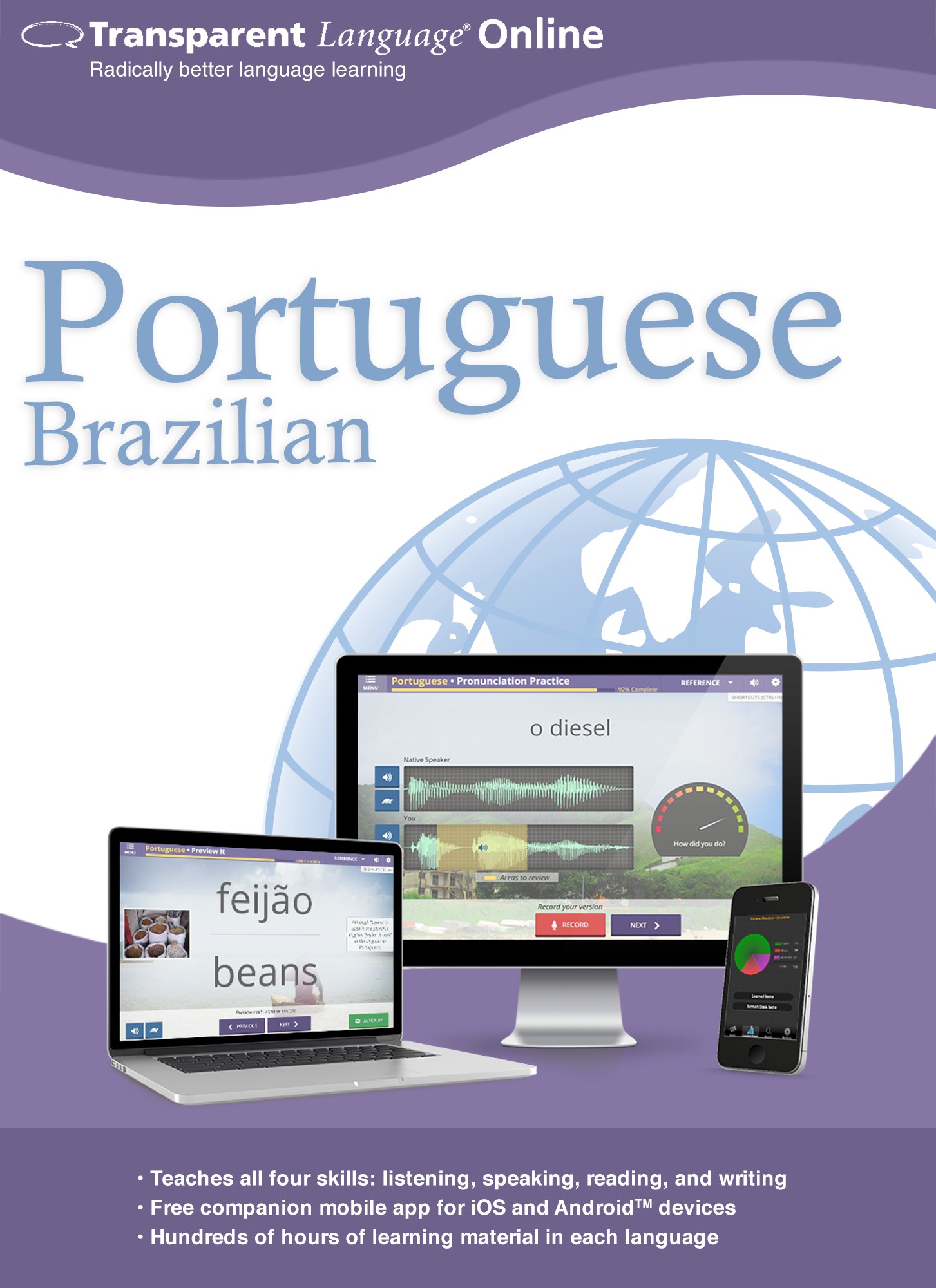Transparent Language Online - Brazilian Portuguese - 12 Month Subscription for Mac...