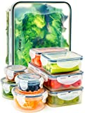 Food Storage Containers with Lids - (Comparable to Tupperware Set ) Airtight Leakproof Lock and BPA Free Plastic Container Set for Kitchen Use by Fullstar (18 Piece Set)