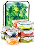Amazon Price History for:Food Storage Containers with Lids - Airtight Leak Proof Easy Snap Lock and BPA Free Clear Plastic Container Set for Kitchen Use by Fullstar (18 Piece Set)