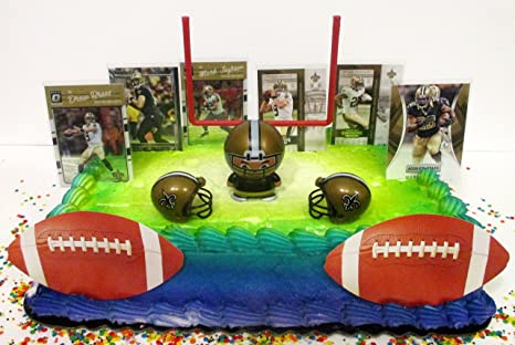 Terrific Amazon Com New Orleans Team Themed Football Birthday Cake Topper Personalised Birthday Cards Sponlily Jamesorg