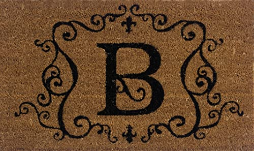 Evergreen 2RM002 Monogram Door Mat, Coir Insert, Letter B, 16-Inches x 28-Inches Discontinued by Manufacturer