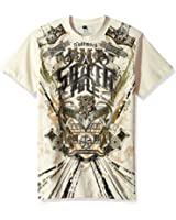 Southpole Men's Short Sleeve HD, Foil, Flock Print All Over Graphic Tee