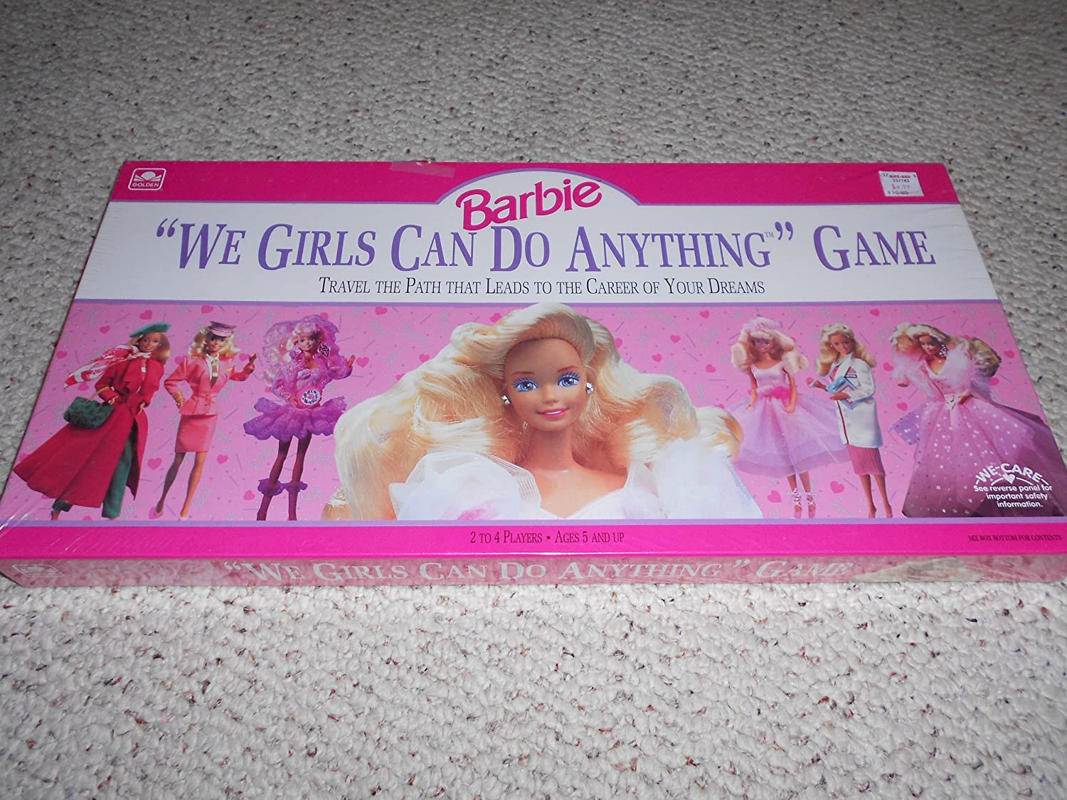 1991 We Girls Can Do Anything Barbie Doll Game
