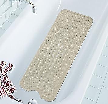 Marvelous Extra Long Bathtub Mat Non Slip Bath Mat Anti Bacterial Tub Mat Simple  Deluxe Shower