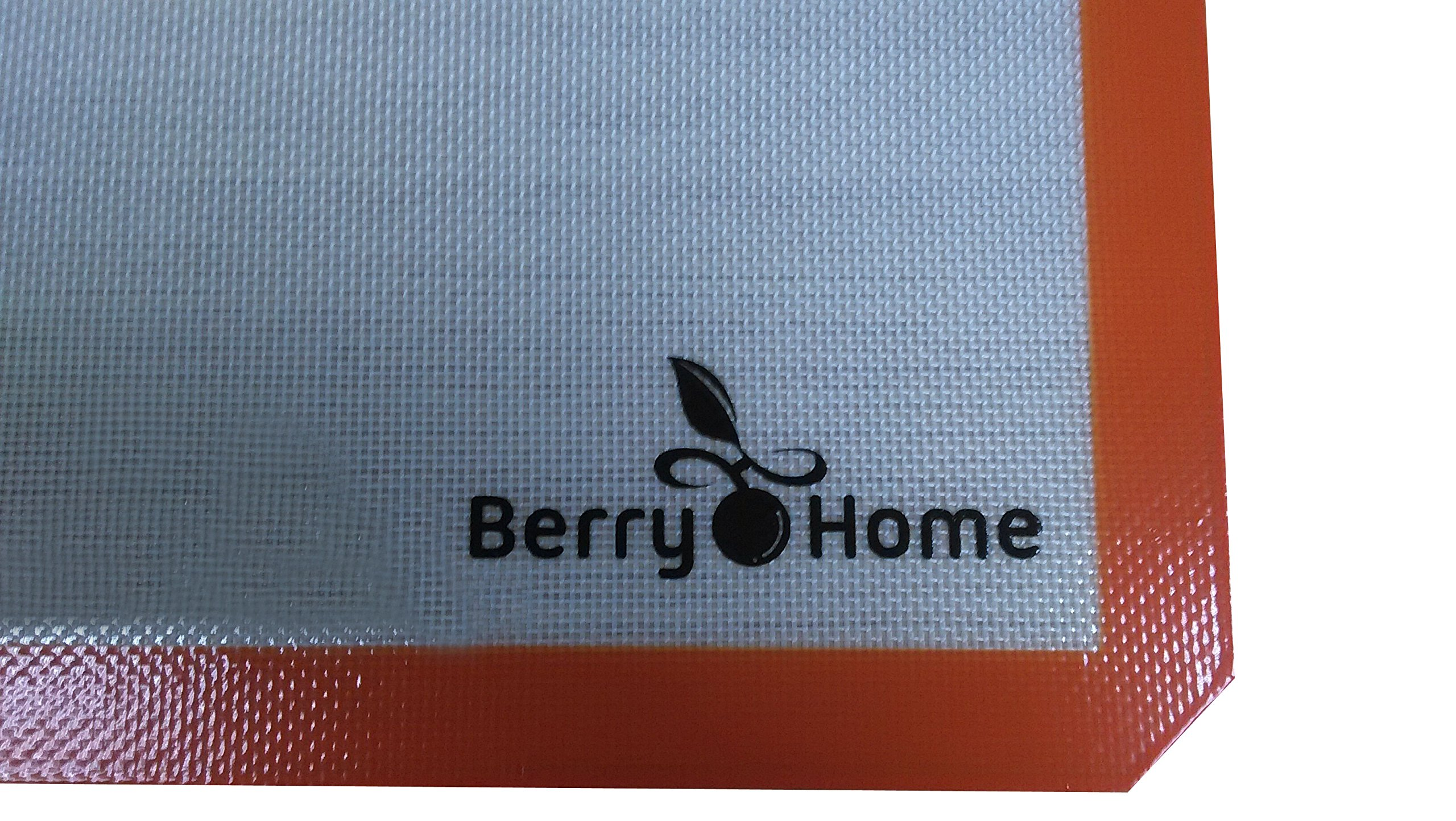 Silicone Baking Mat Parchment Replacement for Baking and Rolling Pizza Dough by Berry Home - 2 Pack by Berry Home (Image #2)