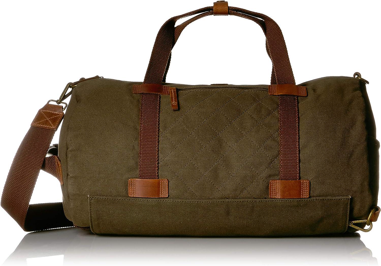 Timberland Men s Nantasket Duffel Bag Convertible Backpack Combo, Olive Night, One Size