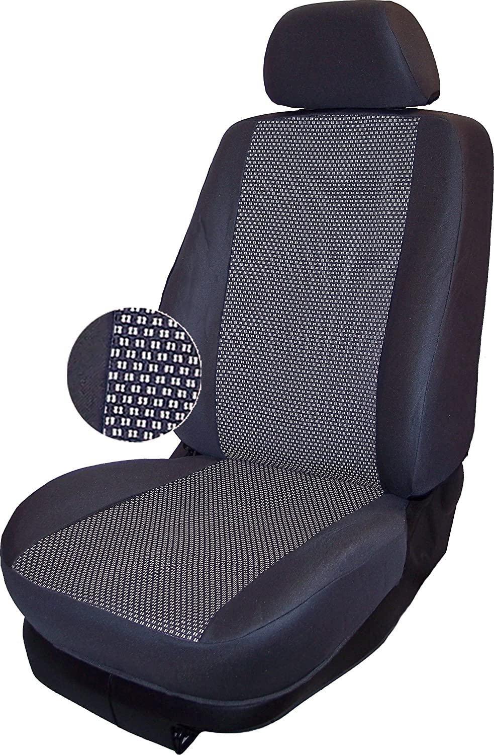 Autokleidung Clothing Seat Covers Made to Measure/DH G0316000 Double Car Seat Back – Grey – 03