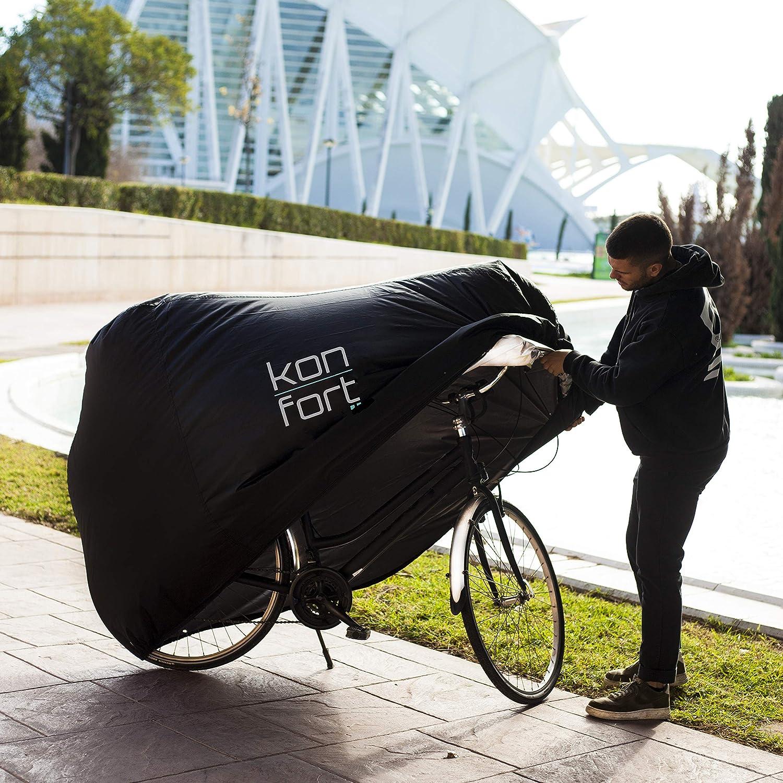 Impermeable /& Anti UV /& Polvo 200x75x110cm Exterior /& Interior KON-FORT Funda para Bicicleta Monta/ña /& Carretera 2 bicis