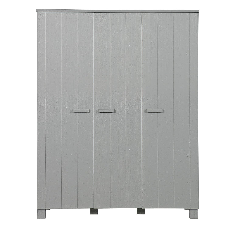 alta calidad - Alfrojo & Compagnie – Armario 3 Puertas Puertas Puertas 202 x 158 x 55 Aaron gris Hormigón  tienda en linea