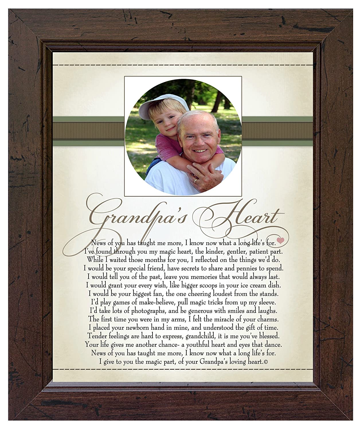 The Grandparent Gift Heart Collection 8x10 Frame, Daddy's Heart Daddy's Heart The Grandparent Gift Co. 1082