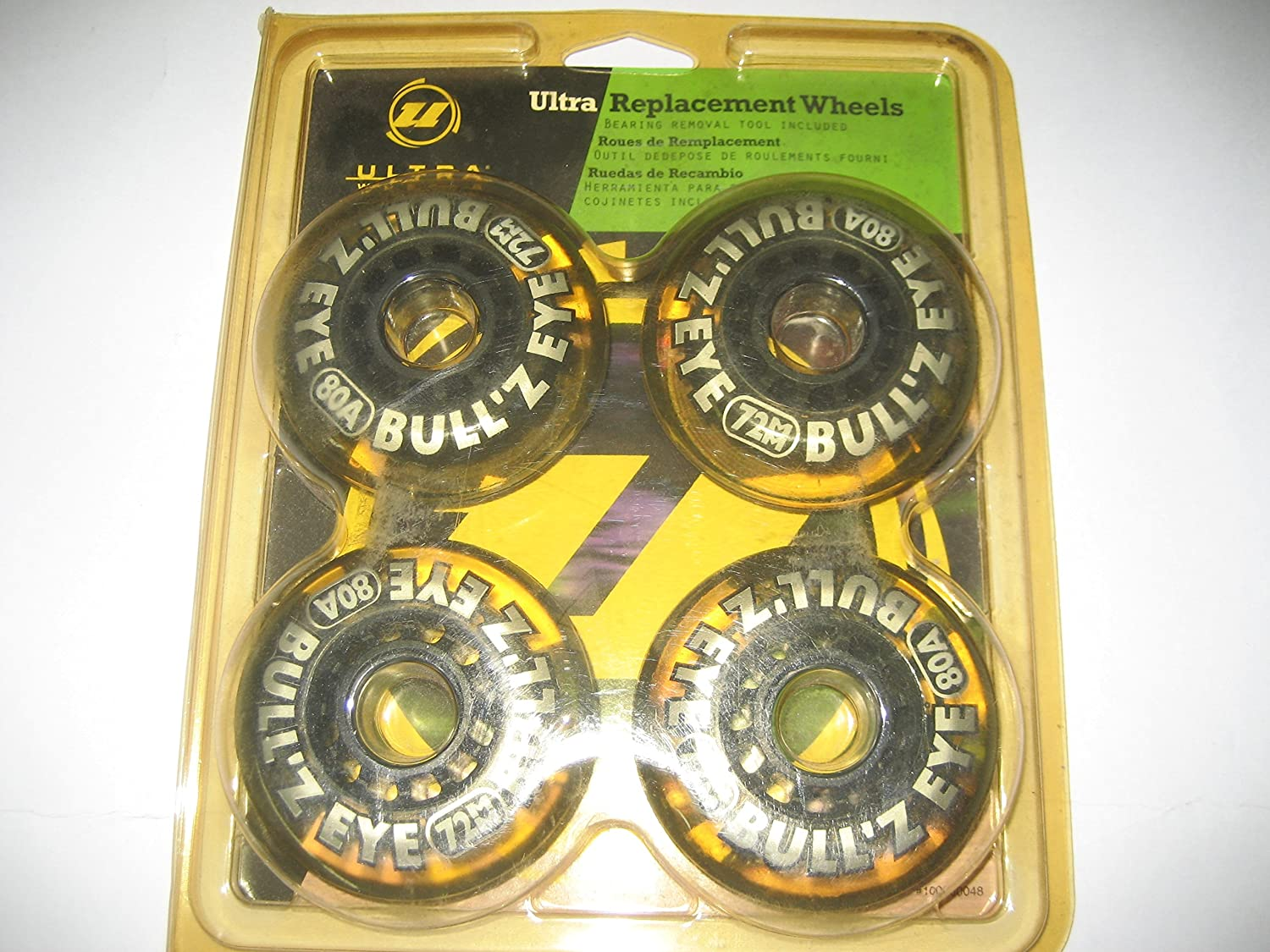 Amazon.com : Ulrta Replacement Wheels Bulls Eye 72mm 4 Pack : Sports & Outdoors