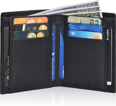 New Men Quality Leather Bi-fold Tri-fold Wallets Lot of 3 wallets,Holiday gift
