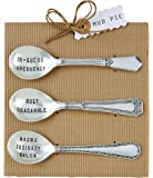 Mud Pie Circa Salsa Spoon Set, Silver