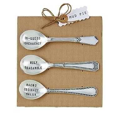 Mud Pie Circa Salsa Spoon Set, Silver