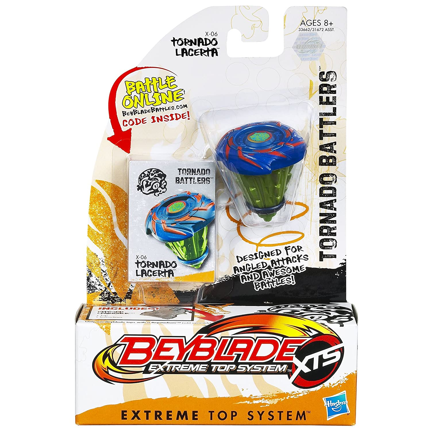 Beyblade Extreme Top System Tornado Battlers X-06 Tornado Lacerta Top