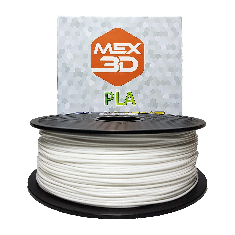 MEX3D - Filamento PLA per la stampa in 3D, 3 , 1 kg bobina/rotolo, disponibile in vari colori, FDM,  mm, rosso, verde, blu, giallo, verde, arancione, oro, argento, nero, bianco, trasparente, 1 kg, Rot, 1 IMEXS electronic