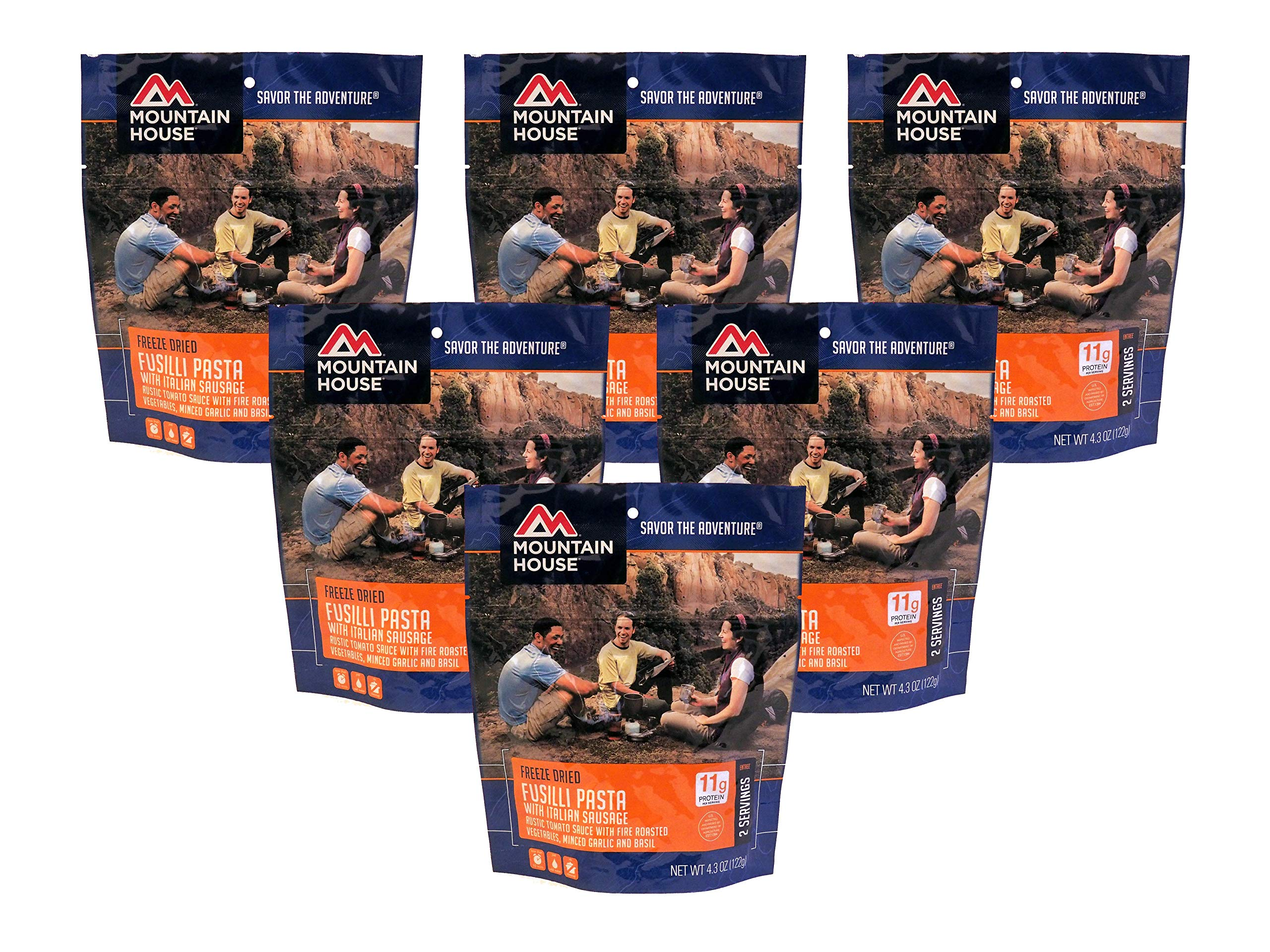 Mountain House Fusilli Pasta with Italian Sausage - 6-Pack by Mountain House