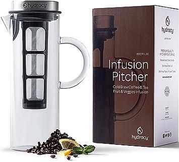 Cold Brew Cafetera de infusiónd e café y té fría - Jarra grande de cristal 1