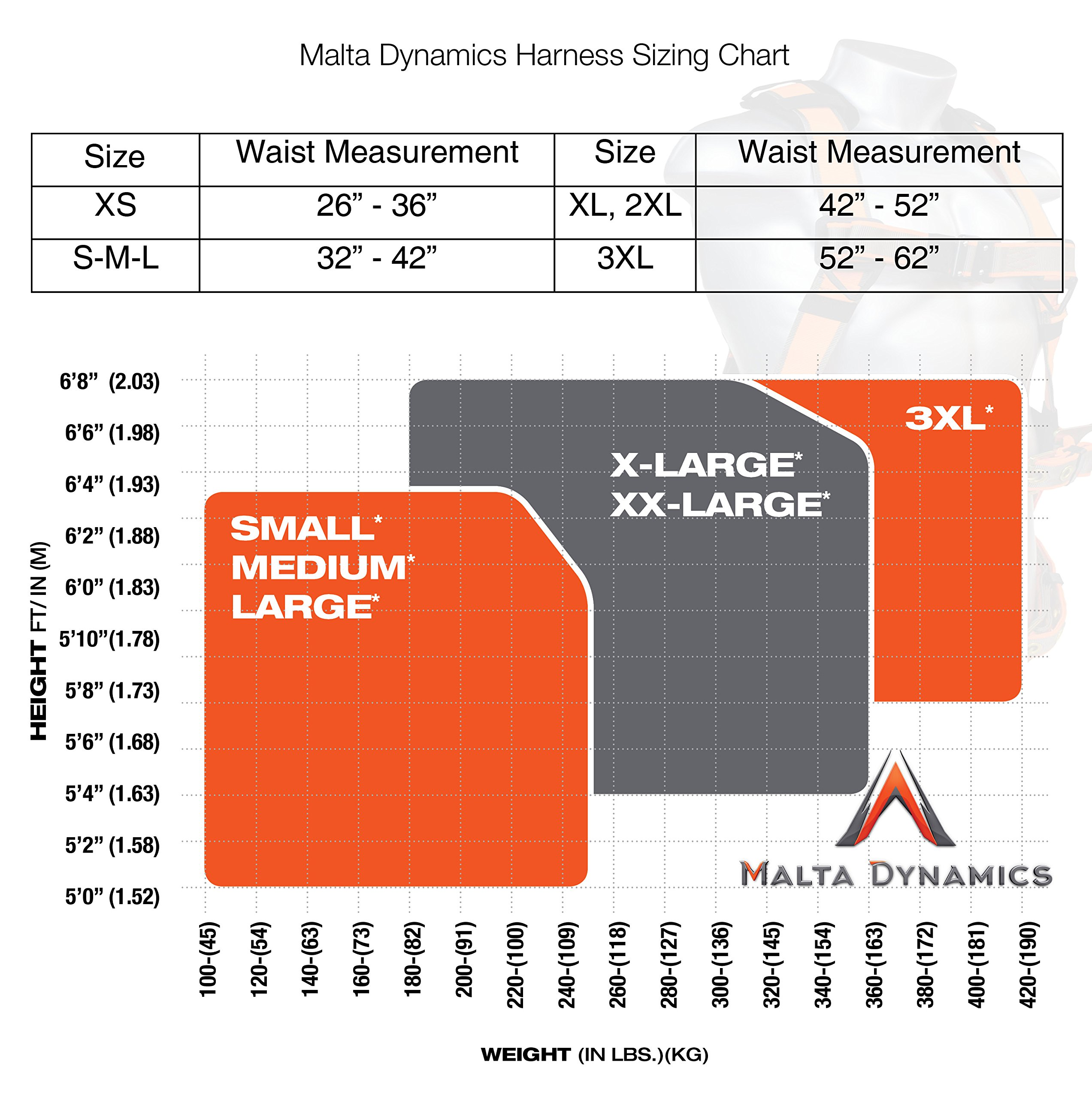Warthog Full Body Universal Harness with Pass-Thru Leg Buckles (XXXL), OSHA/ANSI Compliant by Malta Dynamics (Image #3)
