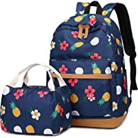 Girls School Backpack Women College Bookbag with Lunch Box Bag Cute Waterproof Rucksack fit 15.6inch Laptop for Teens Girls