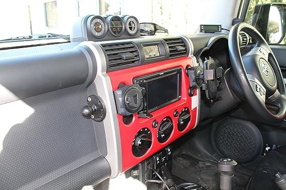 Amazon.com: Toyota FJ Cruiser Accessory - CB/UHF RADIO purpose built dashboard handset MIC mounting bracket: Cell Phones & Accessories