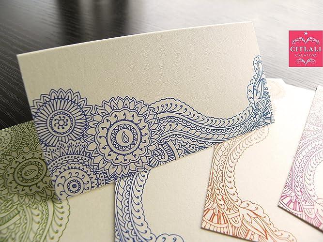 Amazon Com 30qty Henna Mehndi Tent Style Escort Cards Folded