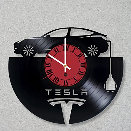 Vinyl Record Wall Clock Elon Musk Tesla SpaceX decor unique gift ideas for friends him her boys girls World Art Design