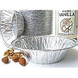 """Disposable Aluminum 5"""" Tart Pan/individual Pie Pan/Small Pot Pie Pan #501 (50)"""