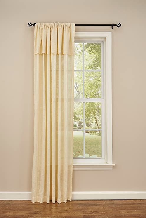 "Park Designs Courtland Cream Tie Up Panel NEW 42/"" x 63/"" NEW 100/% Cotton"