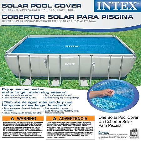 Amazon.com : Intex Solar Cover for 18ft X 9ft Rectangular Frame ...