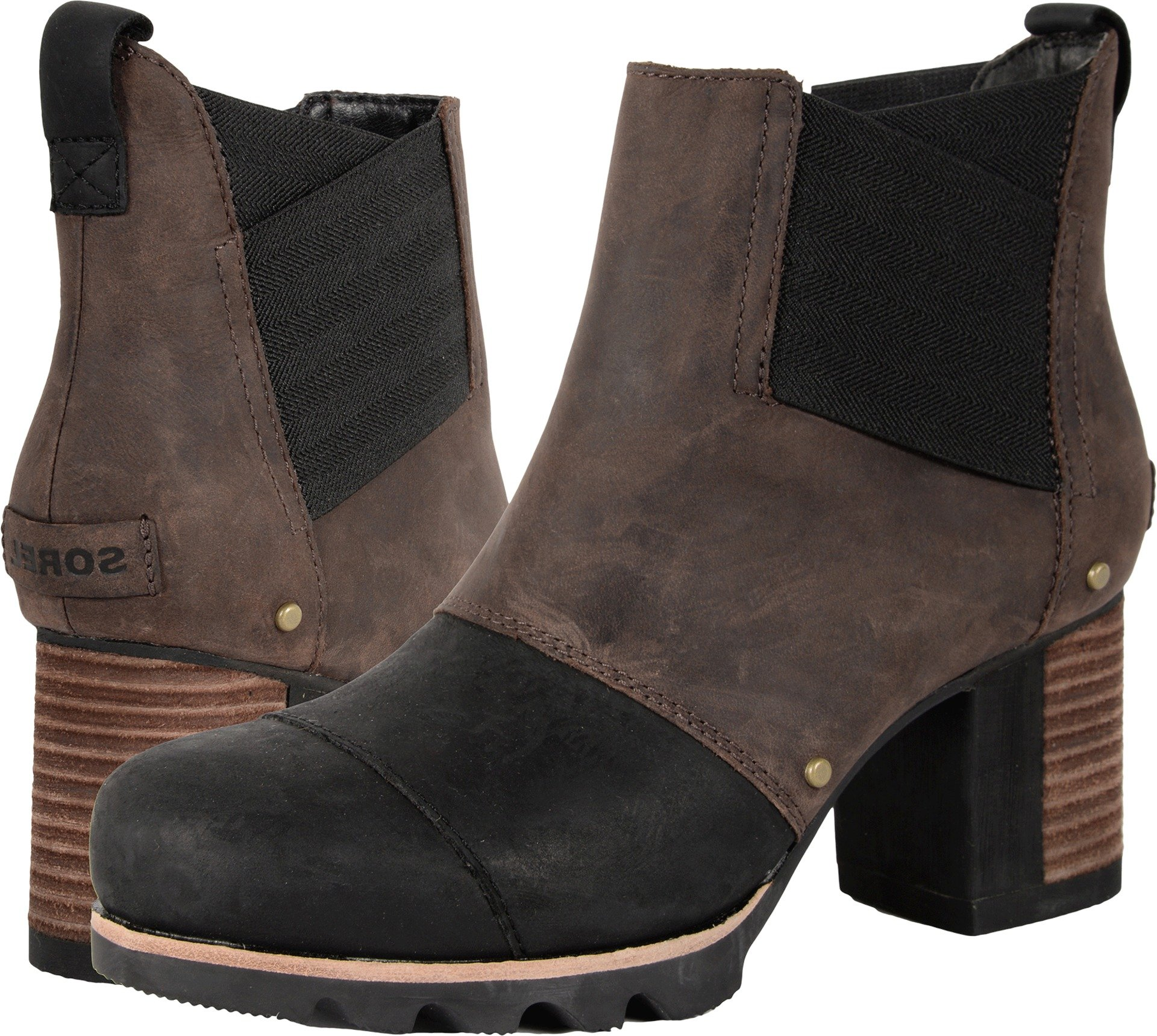 SOREL Women Addington Chelsea Boot (9.5 B(M) US, Bronze/Black)
