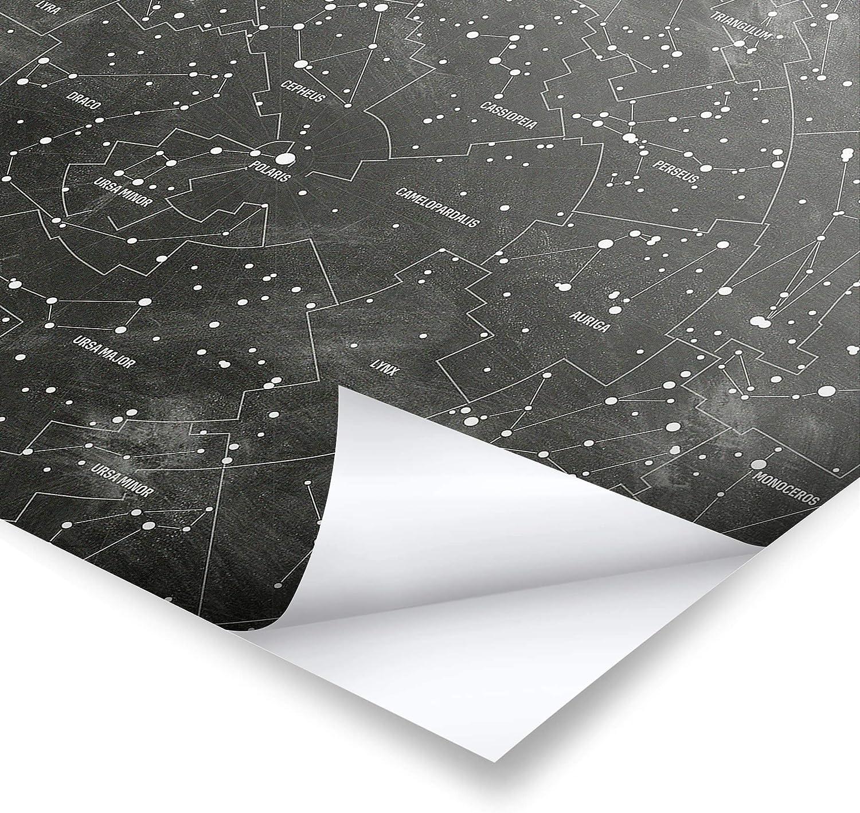 Sternbild Karte Tafeloptik Gl/änzend 20 x 30cm Bilderwelten Poster Wall-Art mit Klammern