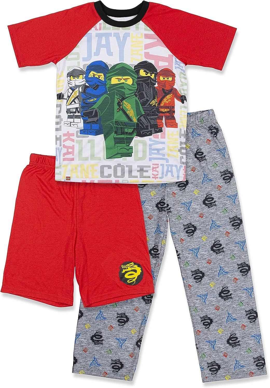 Little Kid//Big Kid LEGO Ninjago Boys 4 Piece Cotton Pajamas Set