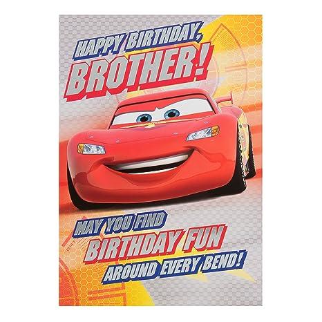 Amazon.com: Disney Cars Tarjeta de cumpleaños para hermano ...