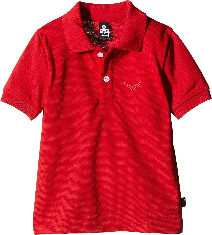 Trigema Jungen Polo-Shirt Piqué-Qualität, Rojo (Kirsch 036), 11 ...