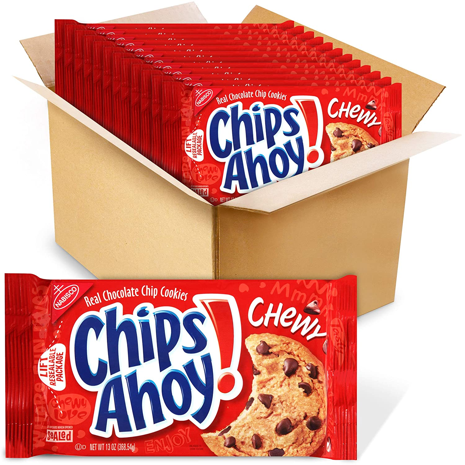 CHIPS AHOY! Chewy Chocolate Chip Cookies, 12 - 13 oz Packs