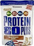 Weider Protein 80 Plus Beutel 2er Pack, Schoko, 2 x 500 g (1 x 1 kg)