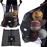 Athletico - Bolsa de pelotas de fútbol extragrande, bolsa de malla para pelotas de fútbol – bolsas de cordón resistentes para
