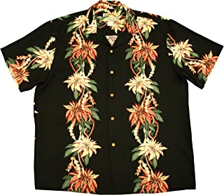 product image for Paradise Found Mens Christmas Poinsettia Panel Shirt