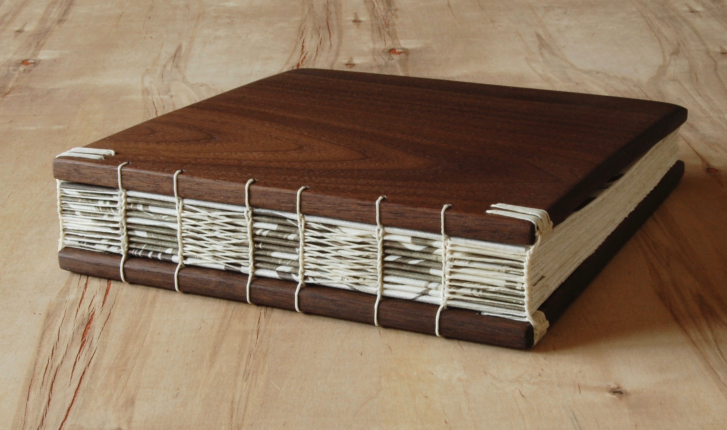 Handmade Wedding Guest Book or Vacation Home Guestbook - Black Walnut Wood