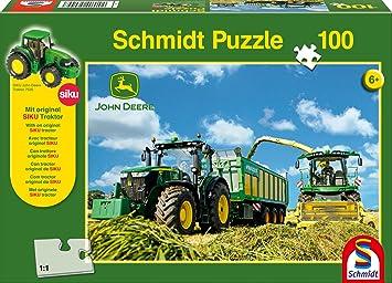 John Deere Puzzle 100 Teile Spiel Deutsch 2015 Mähdrescher S690